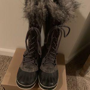Sorel Tall winter gray boots, 7.5
